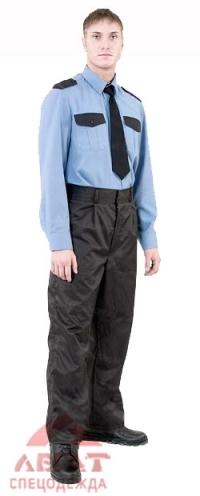 Рубашка охраника (синяя) д/рукав