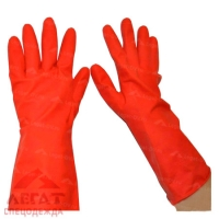 Перчатки быт. рез. (красн)