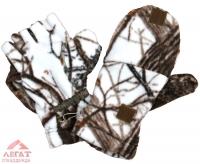 Варежки-перчатки флис «Белый лес» арт. 732-4