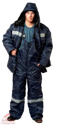 Костюм утеплен Мастер ткань Оксфорд (синий с СОП) куртка полукомбинезон