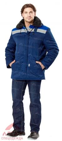 Куртка Бригадир утепленная (темно-синий/василек.)