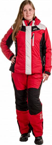 Костюм утеплен женский Грация (красный) (куртка+полукомбенизон) PAYER
