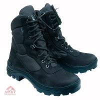 Ботинки Тактика (нубук\ткань) черные