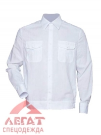Рубашка ПОЛИЦИЯ белая длин. рукав на резинке