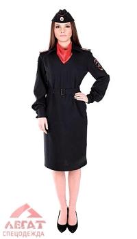 Платье полиция длинный рукав с платком тк. Габардин