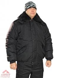 Куртка Норд утепленная Черная (тк. Дюспо утепл. Синтепон)