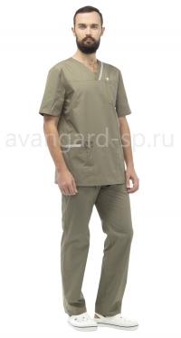 Костюм медицинский мужской Юник олива+св.серый АВАНГАРД