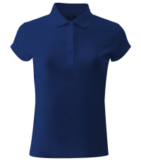 Рубашка поло жен. на кнопках яр. синяя