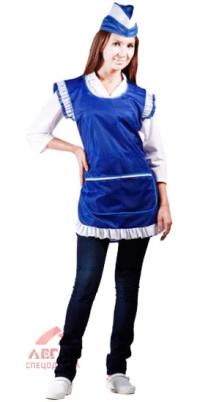 Фартук-сарафан нейлон синий