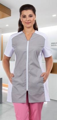 Блуза женская Тереза (бел+сер)