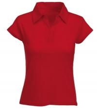 Рубашка поло жен. на кнопках красная