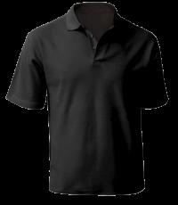 Рубашка поло муж на кнопках черная