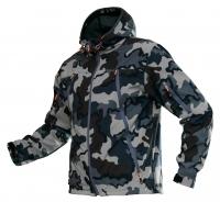Куртка Альфа (софт-шелл) цв. хаки, черный мультикам 7,62
