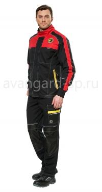 Куртка Старт цв. черно-красная
