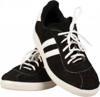 Кроссовки на шнурках с белой полосой (Нубук)
