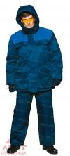 Костюм утеплен Буран сине-васильковый (куртка+полукомбинезон)