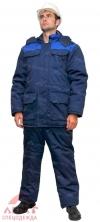 Костюм утепленный Буран сине-васильковый (куртка+полукомбинезон)