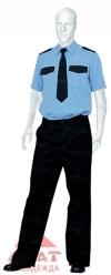 Рубашка охраника (синяя) кор.рукав