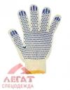 Перчатки трикот. х/б 5 нитей (10) с точ. покр. (белые)/упак.400пар/