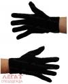 Перчатки п/ш (50% шерсть) черные 2-я вязка
