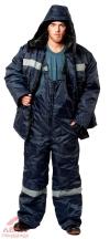 Костюм утепленный Мастер ткань Оксфорд (синий с СОП) куртка полукомбинезон
