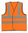Жилет сигнальный оранжевый с СОП