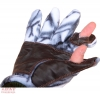Перчатки охотника флис-кожа (белый лес)