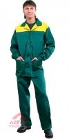 Костюм Мастер (куртка+брюки) зеленый/желтый