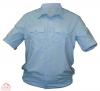 Рубашка ПОЛИЦИЯ светло-голубая  кор. рукав на резинке