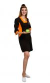 Халат Сладко (коричневый+оранжевый) ткюГабардин