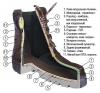 Ботинки Тактика (нубук\ткань) Цифра арт. 579/6